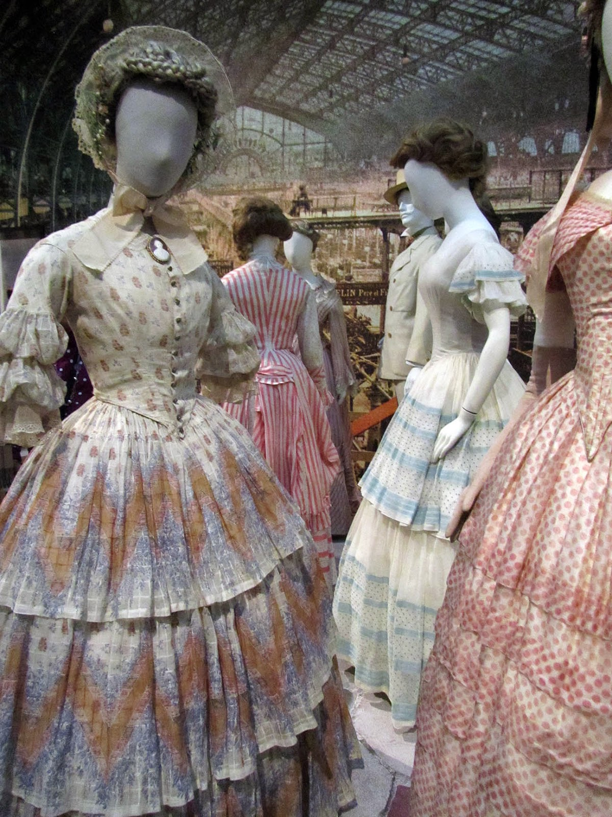 cotton summer dresses, ca 1885