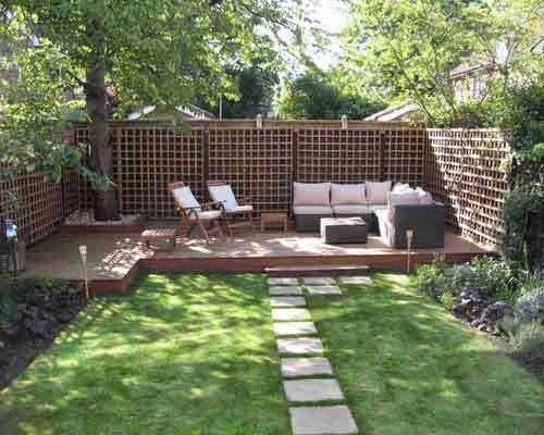 diseño simple jardín casa | beautifull diseño de jardín casa