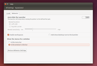 Ubuntu locally integrated menus