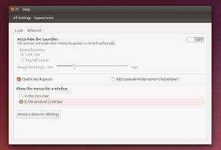 Ubuntu locally integrated menus