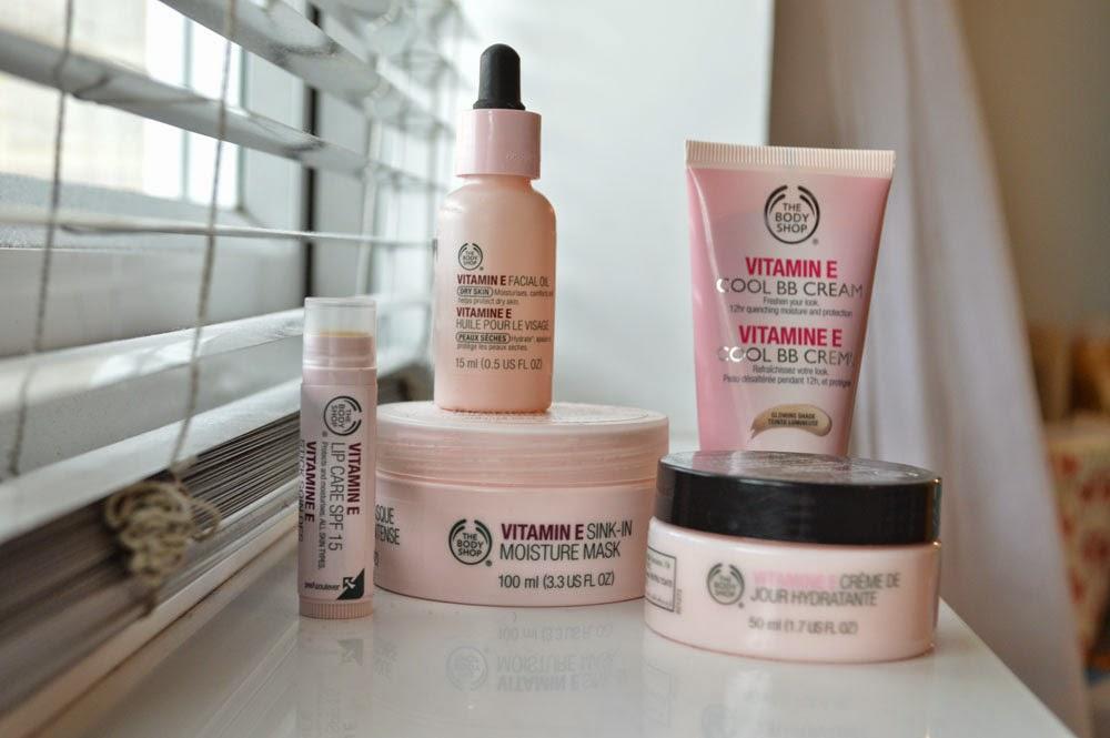 Body Shop Vitamin E skincare