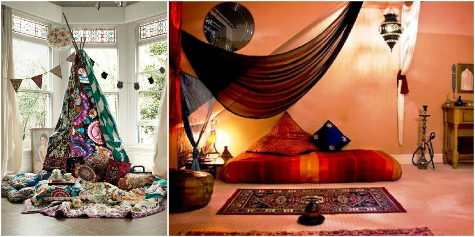 This is definitely a u0027come hitheru0027 design... roarrr! & Drowning in a Boho Canopy Bed! | The House of Boho