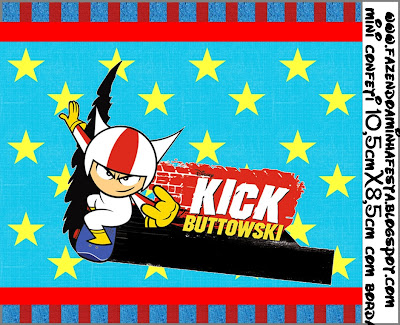 Etiquetas para Imprimir Gratis de Kick Buttowski.