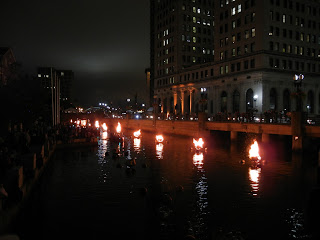 The Water Fire urban art exhibit in downtown Providence, Rhode Island