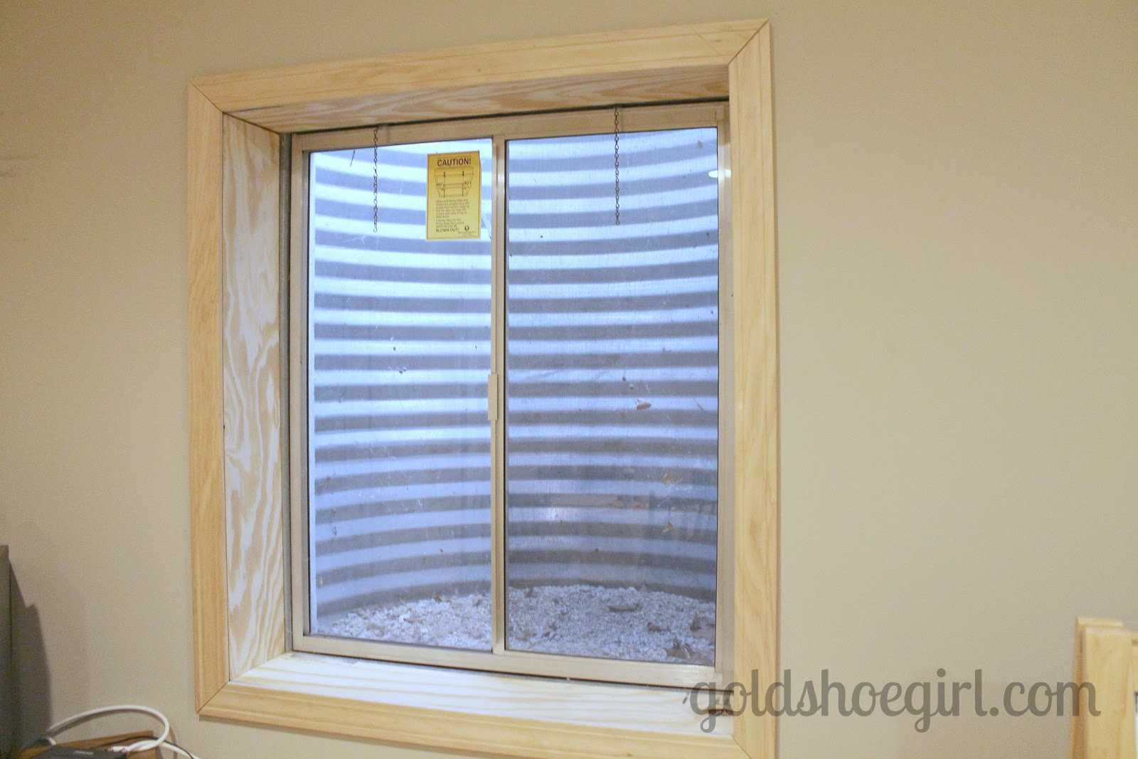 the first project was to frame out this window with some plywood and