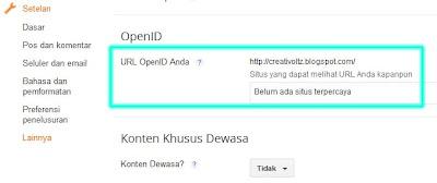 Cara Mengaktifkan Open ID pada Blog
