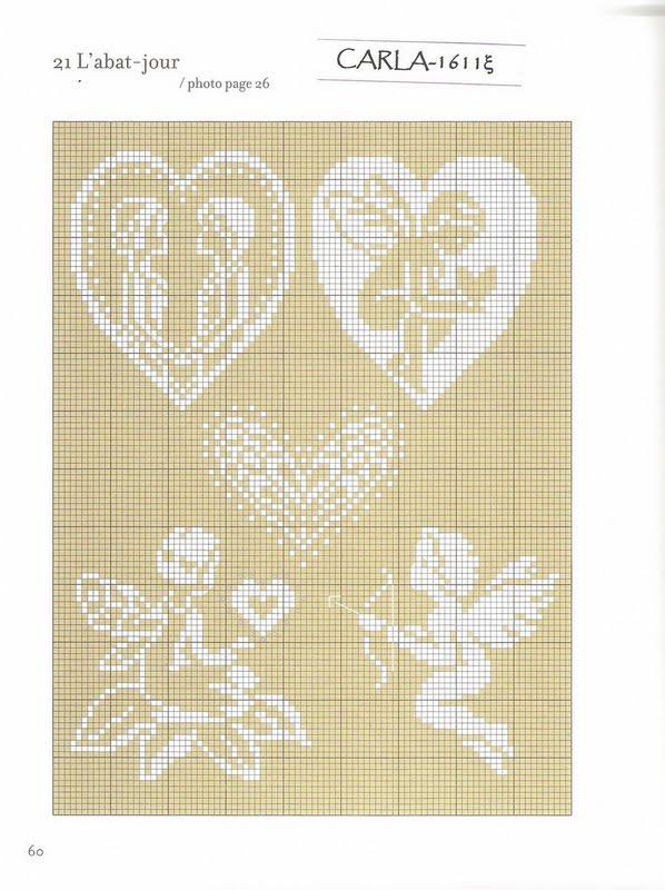 Схема вышивок на льняной канве