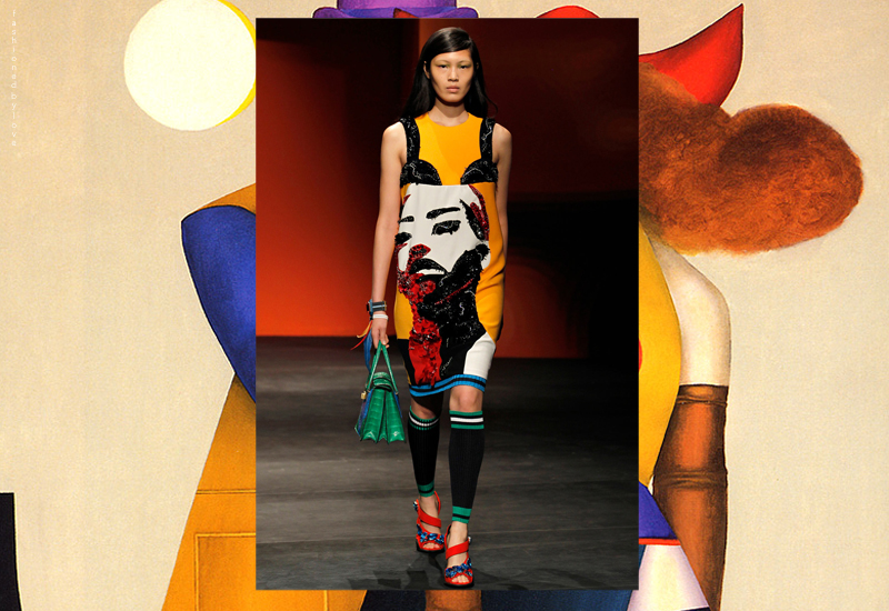 It was political street art, South America, Mexico and works of Richard Lindner that inspired Prada collection this time