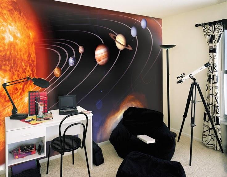 dicas incríveis para decoração de quarto de meninos - quarto sistema solar