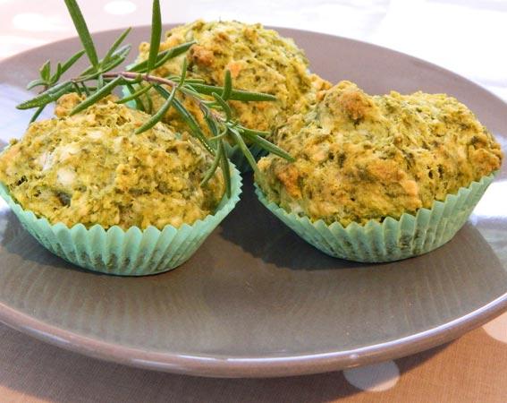 Enthused Monkey: Recipe : Gluten Free Spinach & Feta Muffins