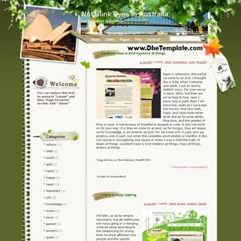 Not Blink Eyes in Australia blogger template from wordpress. blogger template for travel blog. free blogspot template