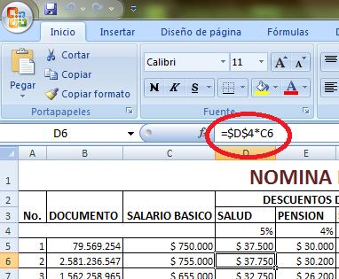 Herramientas Informaticas Formato Nomina Excel