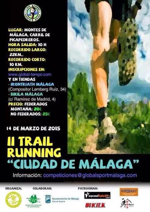 II TRAIL RUNNING CIUDAD DE MÁLAGA
