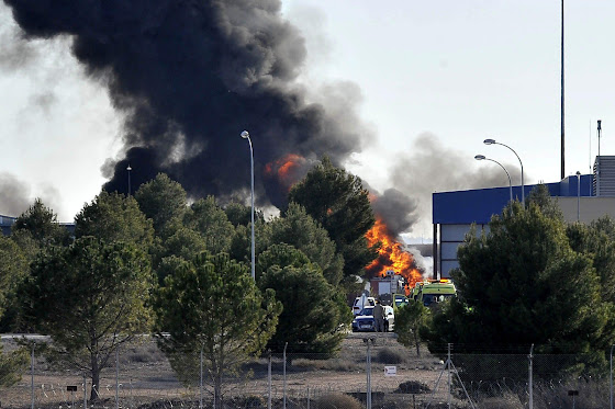 F-16 crash Albacete
