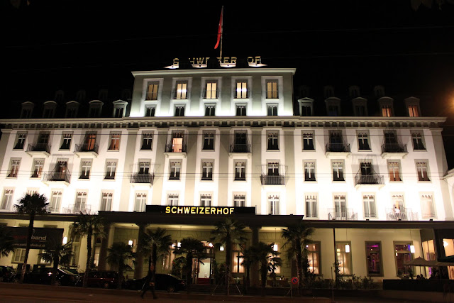 A high class Schweizerhof Hotel in the city of Lucerne, Switzerland