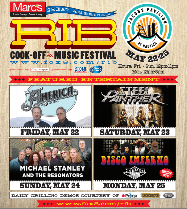 Headliners at @MarcsStores Great American Rib Cook-Off + Music Festival