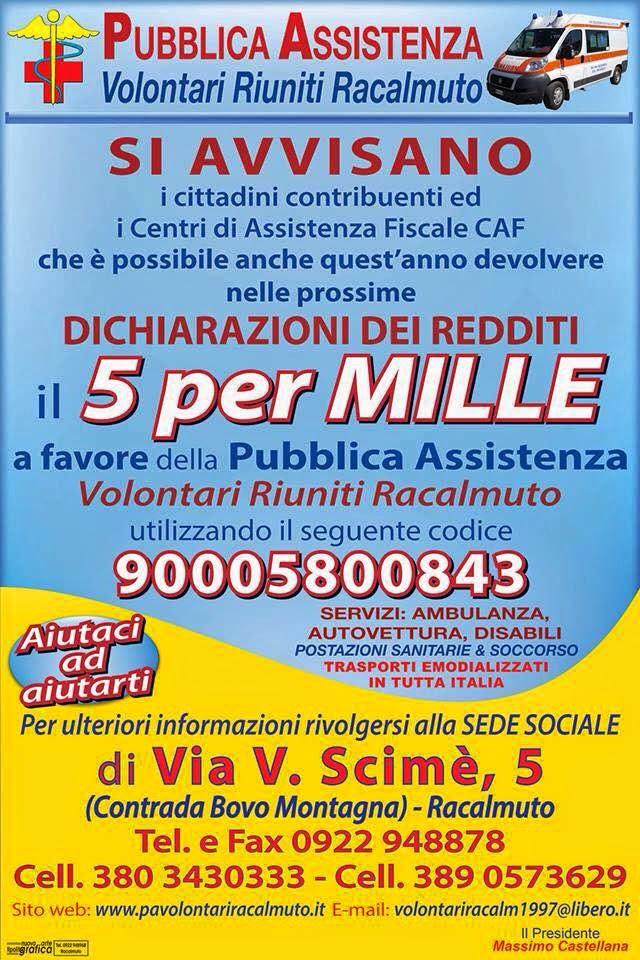 5 x mille - Volontari Pubblica assistenza