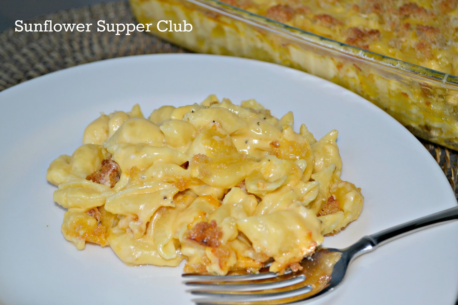Sunflower Supper Club: Nanny's Creamy Baked Macaroni & Cheese