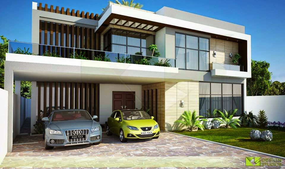 Front Elevation Of One Kanal Houses : One kanal house d front design