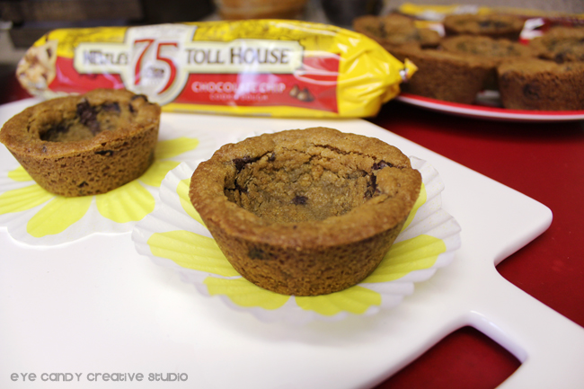 how to make cookie cups, recipe for making cookie cups, apple dipping