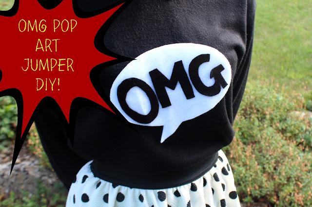 diy pop art jumper