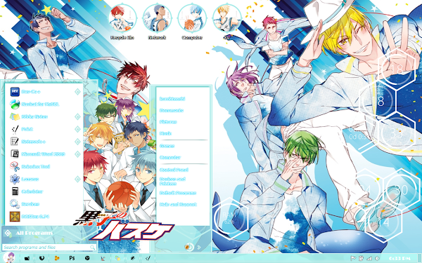 Theme Kiseki No Sedai Kuroko No Basket [Windows 7 ] 1
