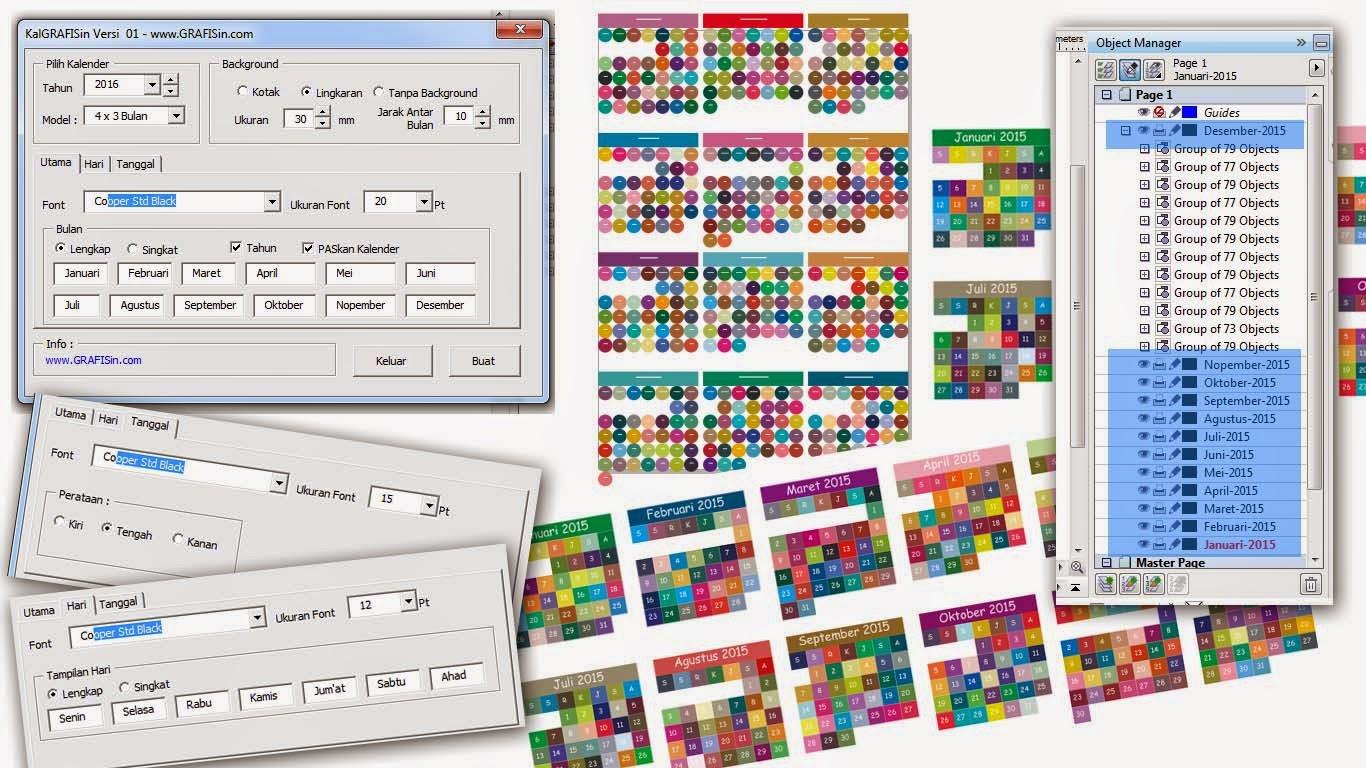 Artikel ke 100 Macro KalenderGRAFISin untuk CorelDraw