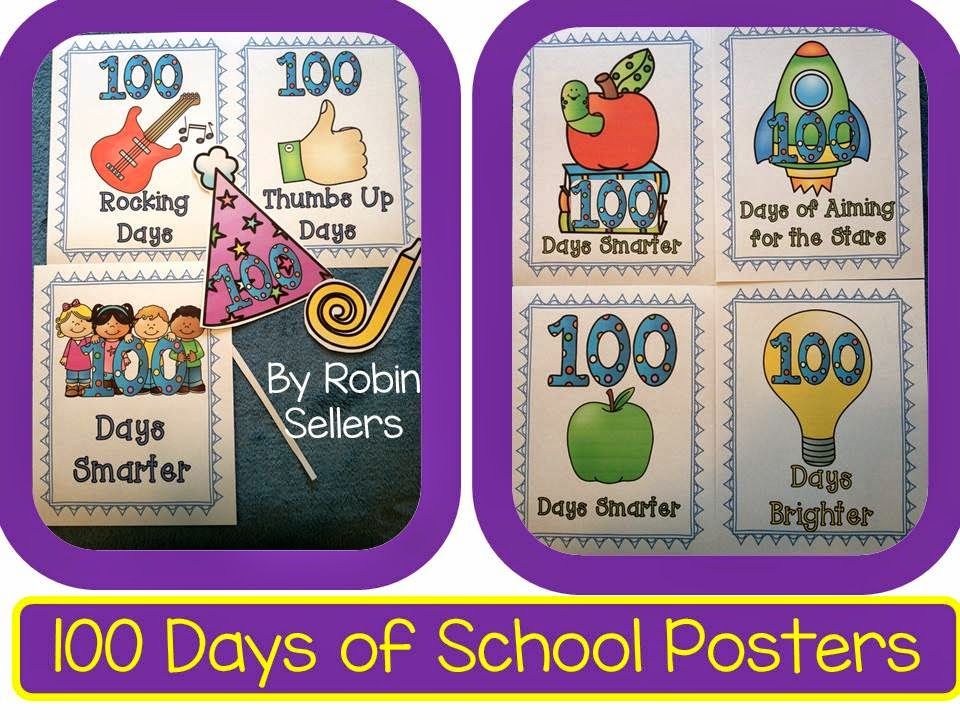 100 days of school posters