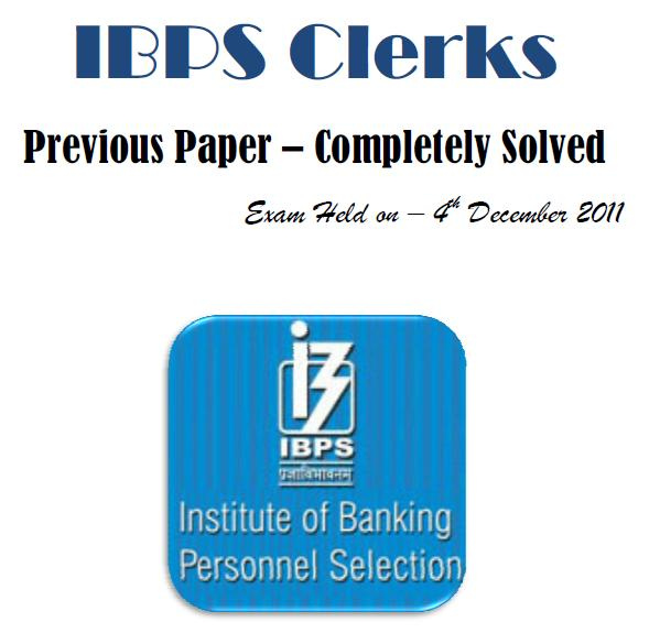 ibps clerks previous exam paper free download