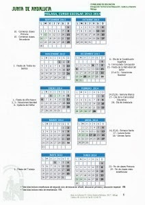 Calendario Escolar 2013-14 .                                                                 MÁLAGA