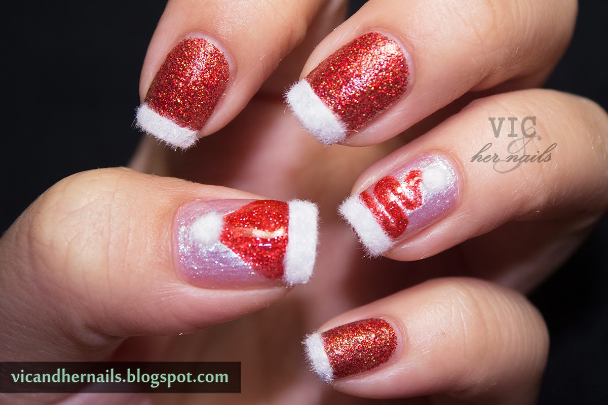 Vic And Her Nails December Nail Theme 4 Festive French Manicure