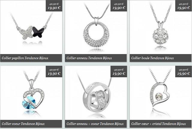 Deal shopping: 19,90 € au lieu de 42.90 € - Collier pendentif SWAROVSKI Mademoiselle Bons Plans