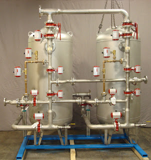 a dual tank water condensate polishing system shipped to arkansas