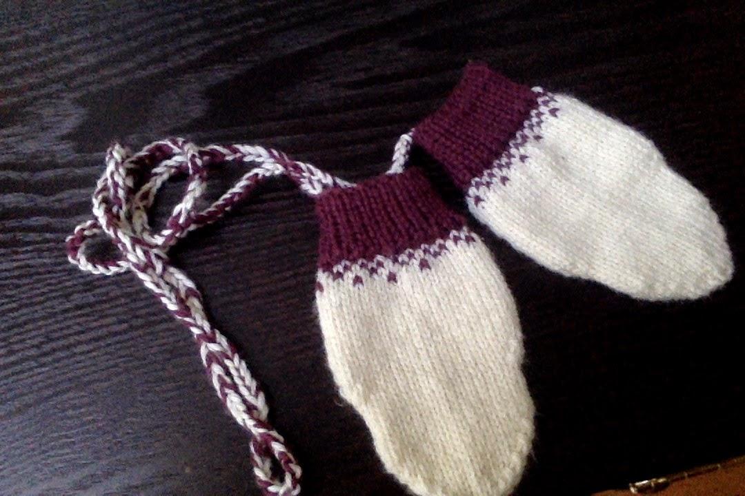 fair isle toddler mitts