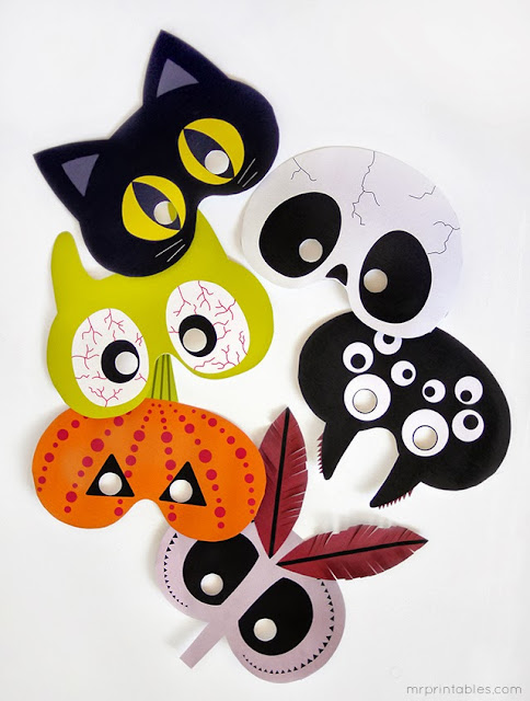halloween fiesta diy photobooth photocall fotografías handmade manualidades máscaras masks