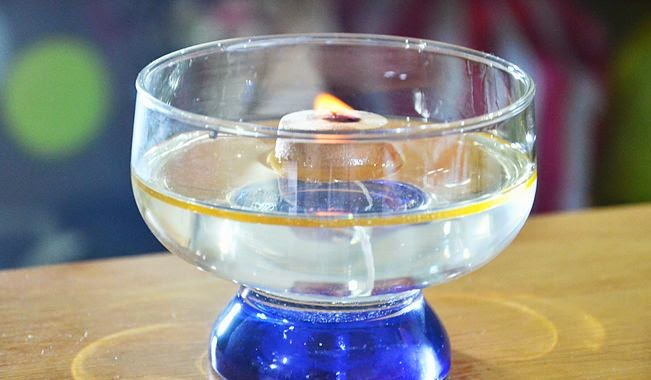 como hacer una lampara con agua y aceite