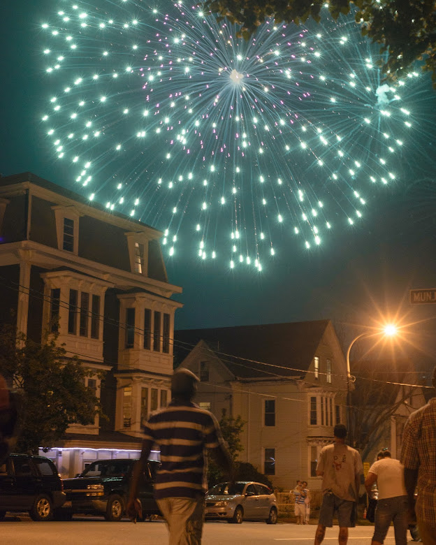 Portland, Maine Summer 2013 Fourth of July Fireworks by Corey Templeton.