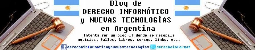 Blog de Derecho Informático y Nuevas Tecnologías en Argentina.
