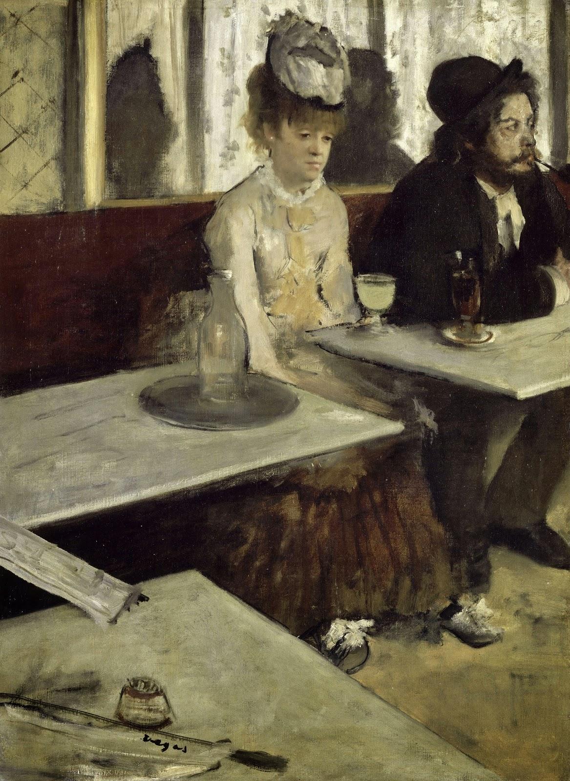 Edgar Degas, Dans un café (también conocido como l'Absinthe), 1873
