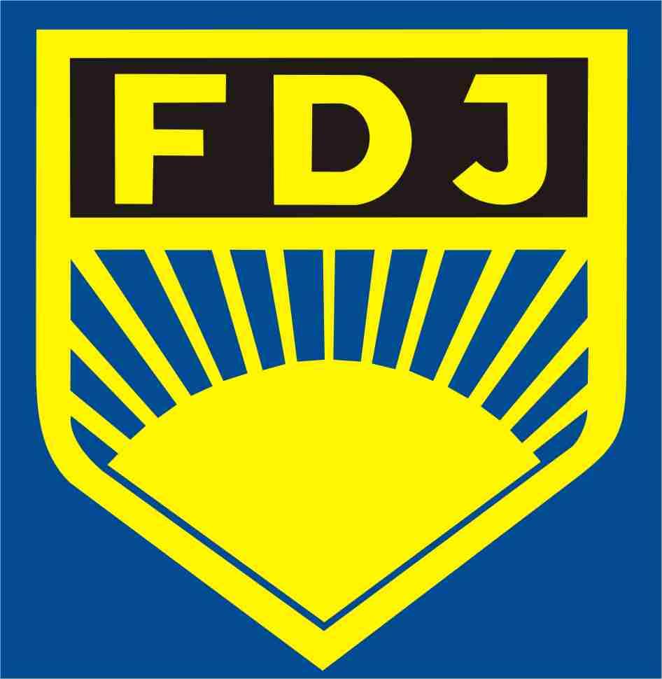 Mitglieder der FDJ auf der Ank...