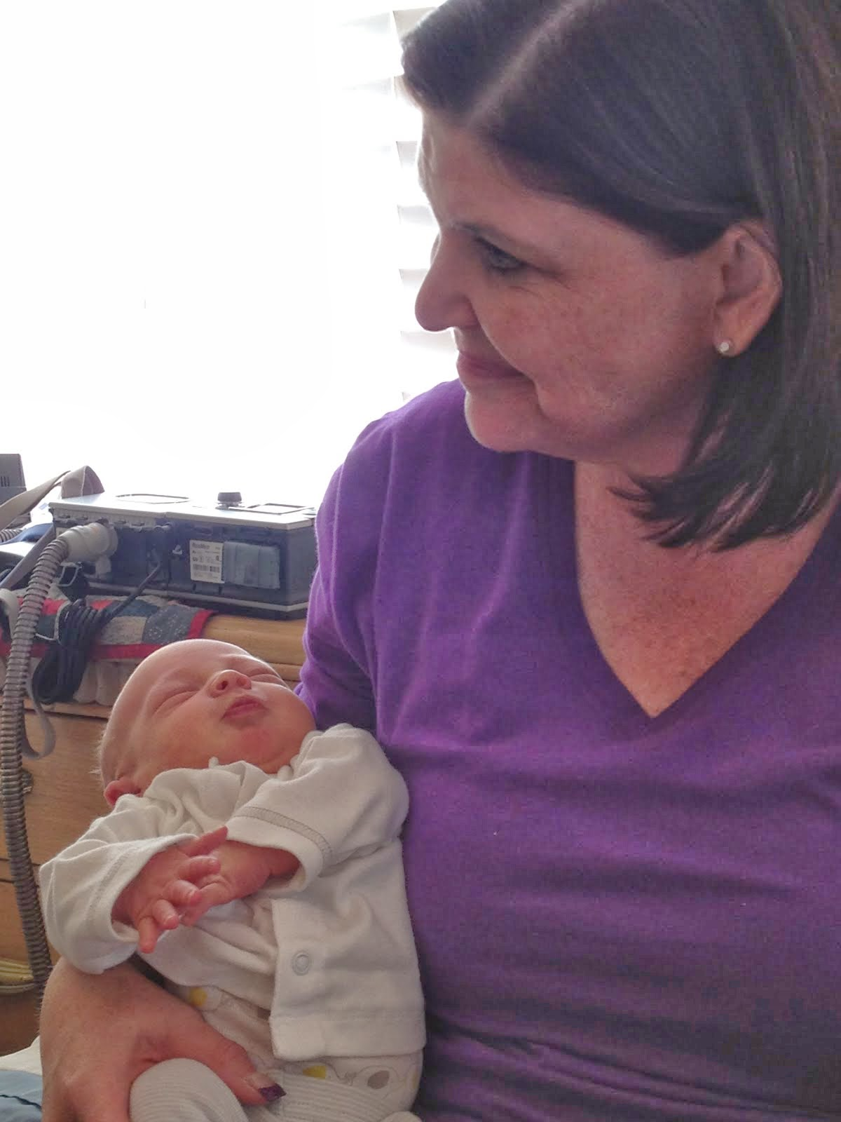 Baby Brooks with Grandma