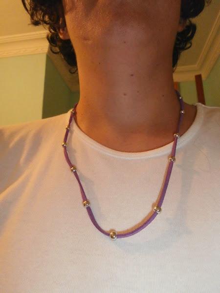 Pulsera/collar de antelina 2 en 1
