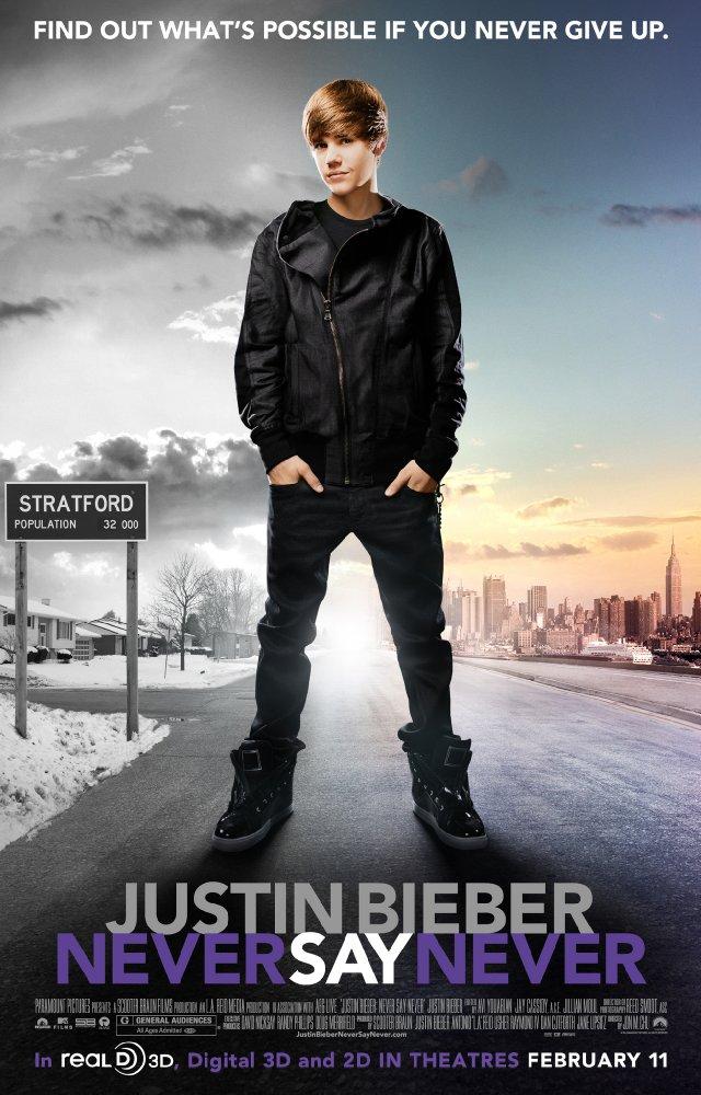 Justin bieber never say never 2011 poster menteprincipiante com