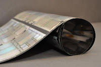 PowerFilm, a flexible solar panels manufacturer showed rollable display