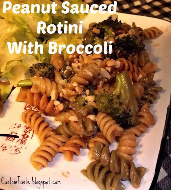 June Surprise Recipe Swap: Peanut Sauced Rotini and Broccoli by Custom Taste