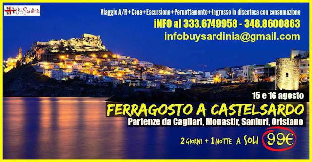 FERRAGOSTO A CASTELSARDO CON BUYSARDINIA - 2 GIORNI + 1 NOTTE A 99€