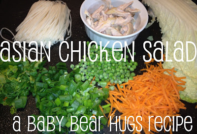 Asian chicken salad ingredients