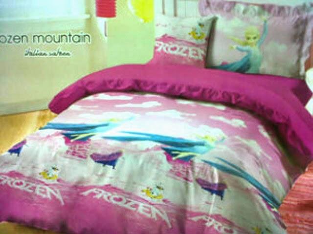 Sprei Anak Motif Frozen Mountain Pink