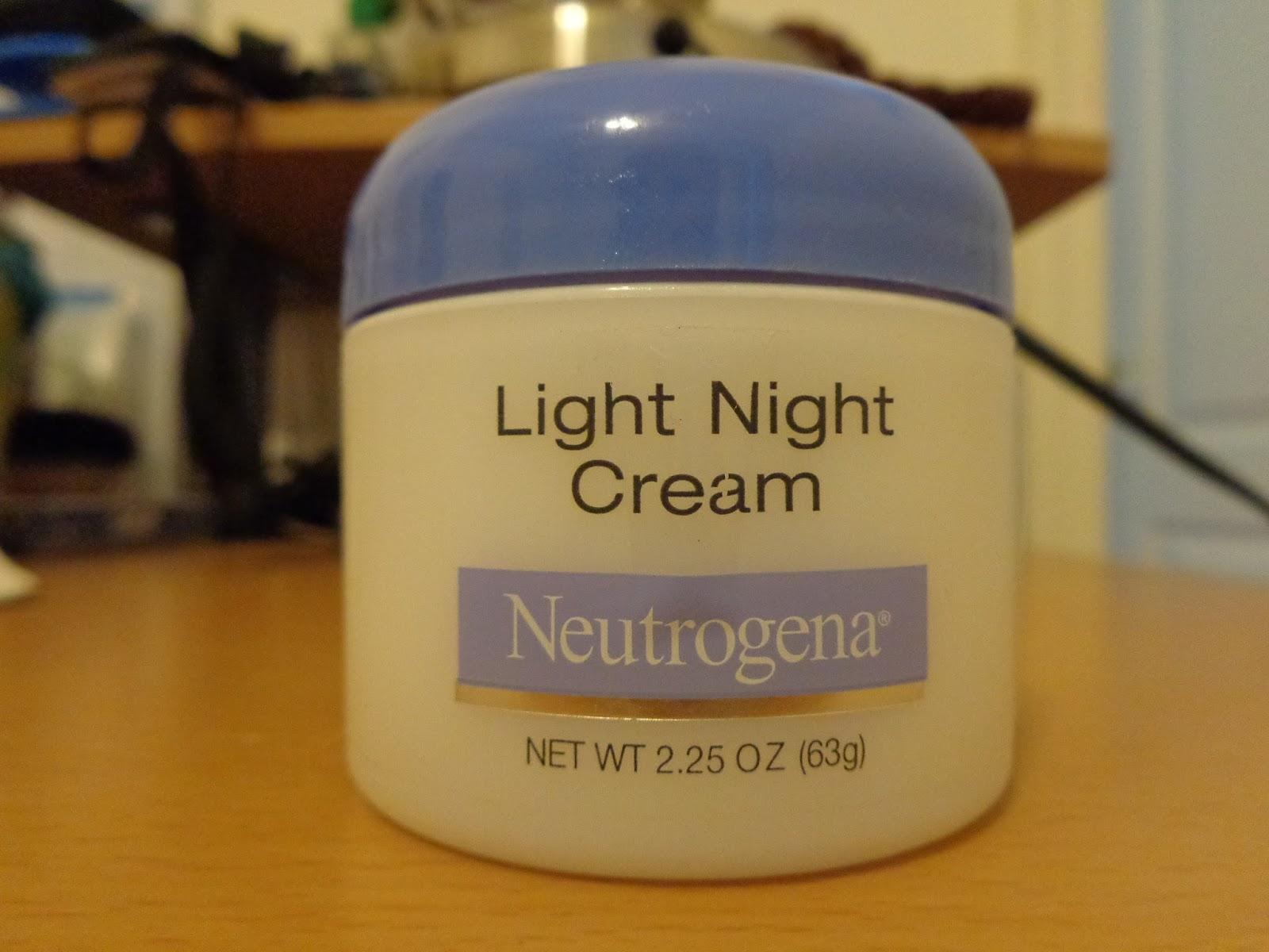 neutrogena light night cream. Black Bedroom Furniture Sets. Home Design Ideas