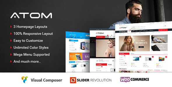 Atom - Responsive WooCommerce WordPress Theme download